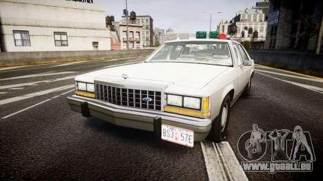 Ford LTD Crown Victoria 1987 Detective [ELS] pour GTA 4