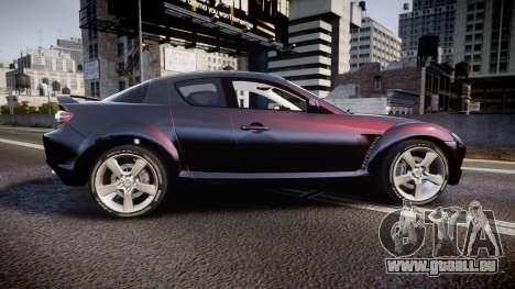 Mazda RX-8 2006 v3.2 Pirelli tires für GTA 4 linke Ansicht