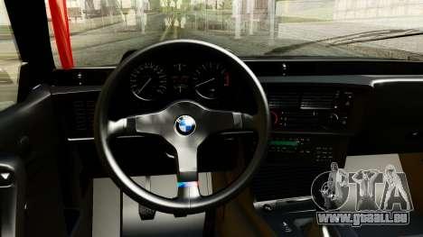 BMW M635CSi E24 1984 pour GTA San Andreas vue arrière