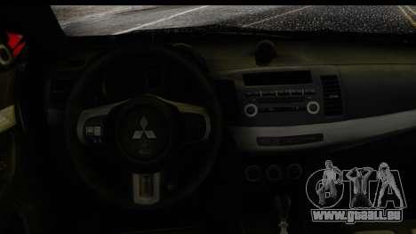Mitsubishi Lancer Evo X Nunes für GTA San Andreas rechten Ansicht