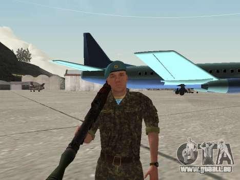 L'airborne soldat de l'Ukraine pour GTA San Andreas cinquième écran