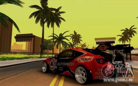 Toyota GT86 ZeroZver pour GTA San Andreas vue de droite