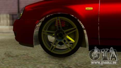Lada Priora Sedan pour GTA San Andreas sur la vue arrière gauche