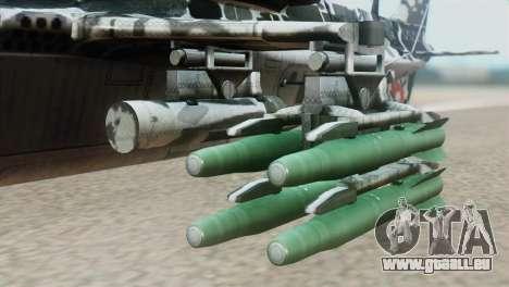 Changhe WZ-10 pour GTA San Andreas vue de droite