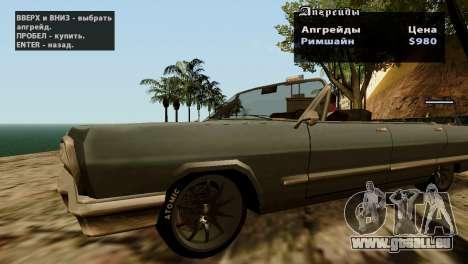 Roues de GTA 5 v2 pour GTA San Andreas sixième écran