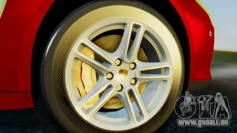 Porsche Panamera Turbo 2010 für GTA San Andreas zurück linke Ansicht