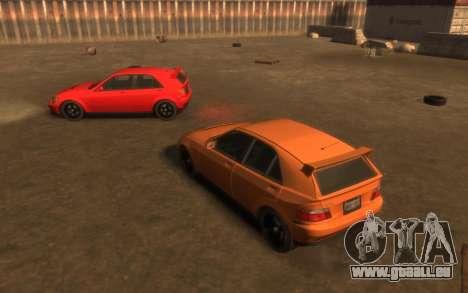 Karin Sultan Hatchback v2 pour GTA 4 est une vue de l'intérieur