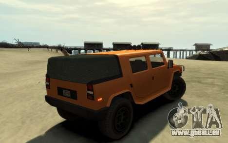 Mammoth Patriot Pickup v2 für GTA 4 hinten links Ansicht