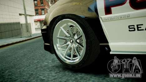 Subaru Impreza WRX STI Police für GTA 4 hinten links Ansicht