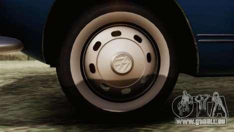 Volkswagen Karmann-Ghia Coupe (Typ 14) 1955 HQLM pour GTA San Andreas sur la vue arrière gauche