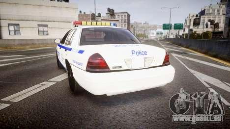 Ford Crown Victoria NYPD [ELS] pour GTA 4 Vue arrière de la gauche