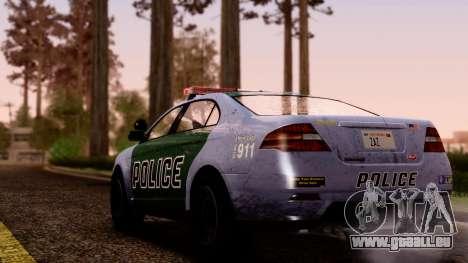 GTA 5 Vapid Police Interceptor v2 SA Style pour GTA San Andreas laissé vue