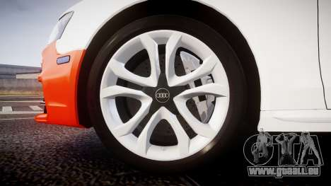 Audi S4 Avant Belgian Police [ELS] orange pour GTA 4 Vue arrière