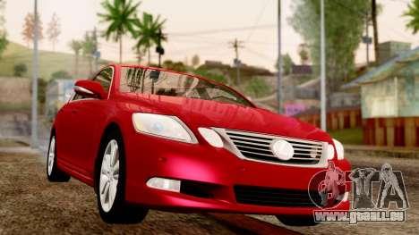 Lexus GS 350 2008 für GTA San Andreas rechten Ansicht
