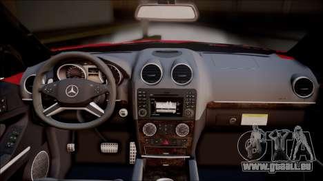 Mercedes-Benz ML 63 AMG 2014 pour GTA San Andreas vue arrière