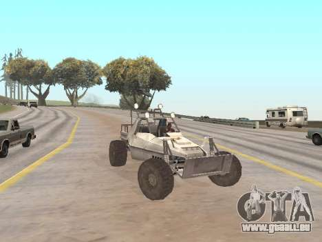 Buggy from Just Cause pour GTA San Andreas vue de droite