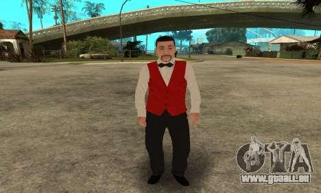 Casino Skin pour GTA San Andreas troisième écran