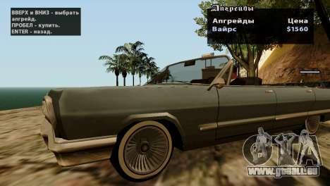Roues de GTA 5 v2 pour GTA San Andreas huitième écran