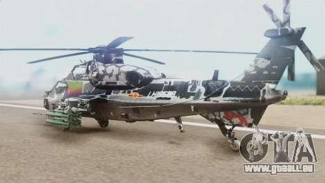 Changhe WZ-10 pour GTA San Andreas laissé vue