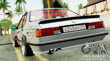 BMW M635CSi E24 1984 pour GTA San Andreas sur la vue arrière gauche