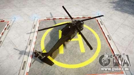 Sikorsky MH-60L Black Hawk [EPM] pour GTA 4 Vue arrière de la gauche