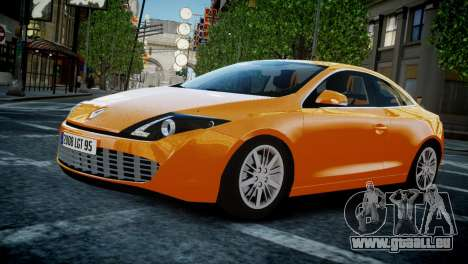 Renault Laguna Coupe pour GTA 4 est une vue de l'intérieur