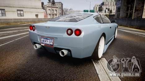Dewbauchee Super GT Tuning pour GTA 4 Vue arrière de la gauche
