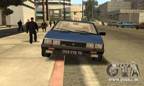 Renault 11 TXE Taxi für GTA San Andreas Innenansicht