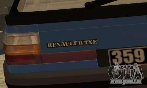 Renault 11 TXE Taxi pour GTA San Andreas salon