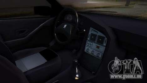 Peugeot 405 GLX Police für GTA San Andreas rechten Ansicht