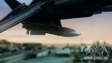F-14D Azusa Miura The Idolmaster pour GTA San Andreas vue de droite