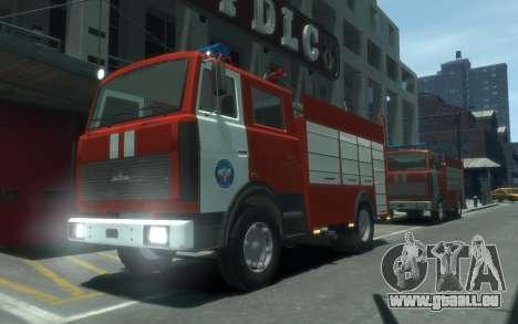 MAZ 533702 de l'EMERCOM de Russie pour GTA 4