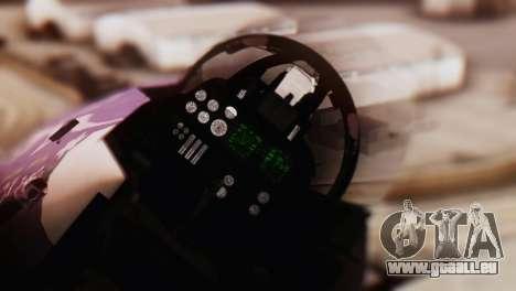 F-14D Azusa Miura The Idolmaster für GTA San Andreas Rückansicht