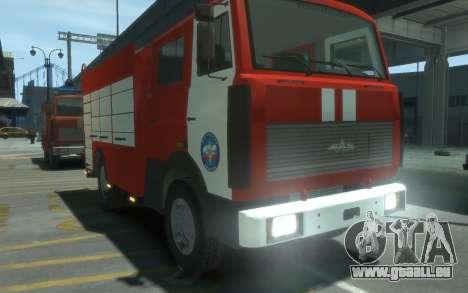MAZ 533702 de l'EMERCOM de Russie pour GTA 4 est un droit