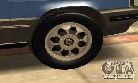 Renault 11 TXE Taxi pour GTA San Andreas vue de dessous