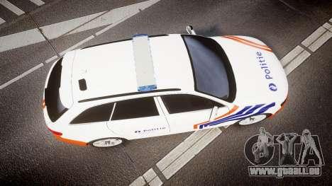 Audi S4 Avant Belgian Police [ELS] orange für GTA 4 rechte Ansicht