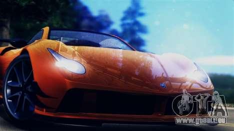Pegassi Osiris from GTA 5 pour GTA San Andreas sur la vue arrière gauche