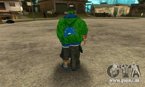 Groove St. Nigga Skin Second pour GTA San Andreas troisième écran