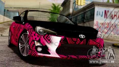 Toyota GT86 (ZN6) 2012 PJ für GTA San Andreas Seitenansicht