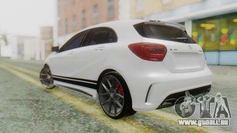 Mercedes-Benz A45 AMG pour GTA San Andreas laissé vue