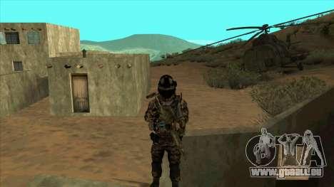 BF3 Soldier pour GTA San Andreas cinquième écran