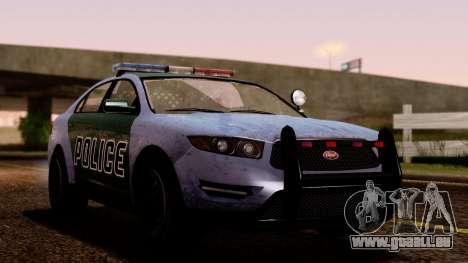 GTA 5 Vapid Police Interceptor v2 SA Style pour GTA San Andreas vue arrière