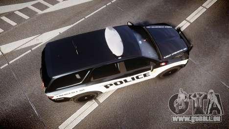 Dodge Durango Alderney Police für GTA 4 rechte Ansicht