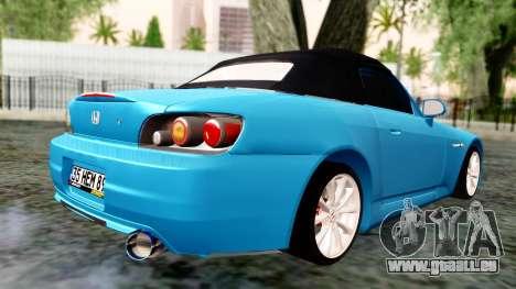 Honda S2000 für GTA San Andreas linke Ansicht