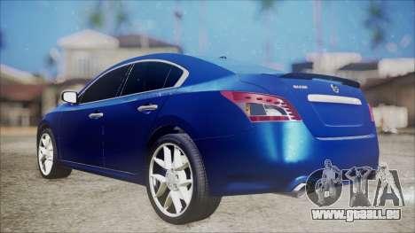 Nissan Maxima 2009 für GTA San Andreas zurück linke Ansicht