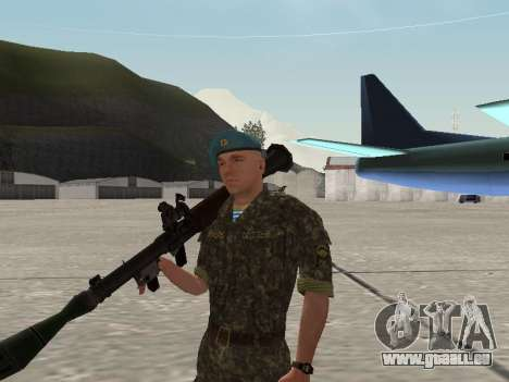 L'airborne soldat de l'Ukraine pour GTA San Andreas sixième écran