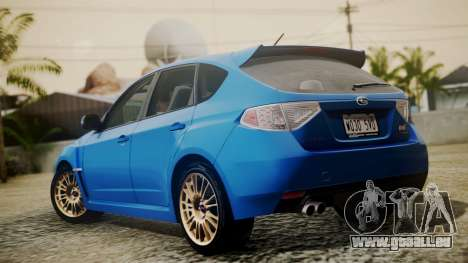 Subaru Impreza WRX STI 2008 PJ für GTA San Andreas linke Ansicht