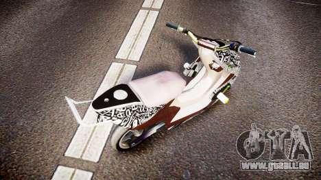 Yamaha Aerox Stunt für GTA 4 hinten links Ansicht