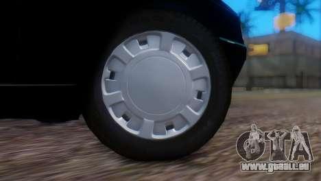 Peugeot 405 GLX Police pour GTA San Andreas sur la vue arrière gauche