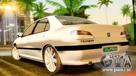 Peugeot 406 pour GTA San Andreas sur la vue arrière gauche